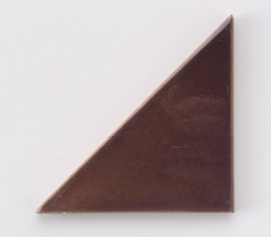 International Tile Company. <em>Tile</em>, 1882-1888. Earthenware, 1/2 x 4 1/4 x 2 1/8 in. (1.3 x 10.8 x 5.4 cm). Brooklyn Museum, Gift of Susan I. Padwee in honor of Dr. Barry R. Harwood, 1998.149.4. Creative Commons-BY (Photo: Brooklyn Museum, 1998.149.4.jpg)