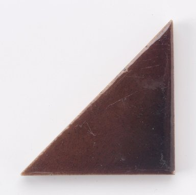 International Tile Company. <em>Tile</em>, 1882-1888. Earthenware, 1/2 x 6 x 3 in. (1.3 x 15.2 x 7.6 cm). Brooklyn Museum, Gift of Susan I. Padwee in honor of Dr. Barry R. Harwood, 1998.149.6. Creative Commons-BY (Photo: Brooklyn Museum, 1998.149.6.jpg)