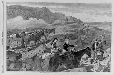 Winslow Homer (American, 1836-1910). <em>The Summit of Mount Washington</em>, 1869. Wood engraving, Illustration: 9 x 13 3/4 in. (22.9 x 34.9 cm). Brooklyn Museum, Gift of Harvey Isbitts, 1998.160.14 (Photo: Brooklyn Museum, 1998.160.14_bw.jpg)