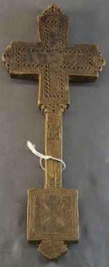 Amhara. <em>Hand Cross (mäsqäl)</em>, late 18th or early 19th century. Wood, 13 1/4 x 5 1/4 x 7/8 in.  (33.7 x 13.3 x 2.2 cm). Brooklyn Museum, Gift of Eric Goode, 1998.173.3. Creative Commons-BY (Photo: Brooklyn Museum, 1998.173.3_PS10.jpg)