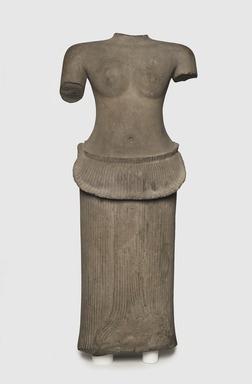 <em>Female Torso</em>, first half of 12th century. Grey sandstone, 35 1/4 x 14 3/4 x 6in. (89.5 x 37.5 x 15.2cm). Brooklyn Museum, Gift of Georgia and Michael de Havenon, 1998.178.3. Creative Commons-BY (Photo: Brooklyn Museum, 1998.178.3_PS11.jpg)