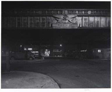 Irwin Silver (American, born 1945). <em>Westside Highway, Pier 99, N.Y.C. (Miller Highway), July 8, 1989</em>, July 8, 1989. Gelatin silver photograph dry-mounted, 10 1/4 x 12 1/2 in. (26.0 x 31.6 cm). Brooklyn Museum, Gift of the artist in honor of Dr. Ogden Goelet, Jr., 1998.35. © artist or artist's estate (Photo: , 1998.35_PS11.jpg)