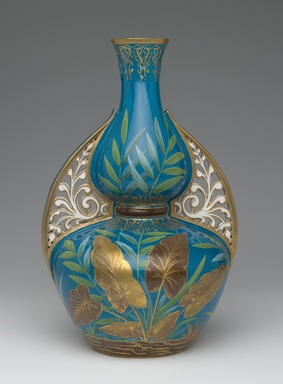 Theodore B. Starr. <em>Vase</em>, ca. 1875. Porcelain, 12 1/2 x 8 x 8 in. (31.8 x 20.3 x 20.3 cm). Brooklyn Museum, Gift of Rosemarie Haag Bletter and Martin Filler in memory of Mollie and Phillip Pell, 1998.49. Creative Commons-BY (Photo: Brooklyn Museum, 1998.49_side1_PS2.jpg)