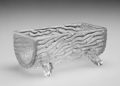 <em>Dish</em>, ca. 19th century. Glass, 2 7/8 x 1 1/2 x 1 1/2 in. (7.3 x 3.8 x 3.8 cm). Brooklyn Museum, Gift of Hattie Forgang, 1998.92.9. Creative Commons-BY (Photo: Brooklyn Museum, 1998.92.9_bw.jpg)