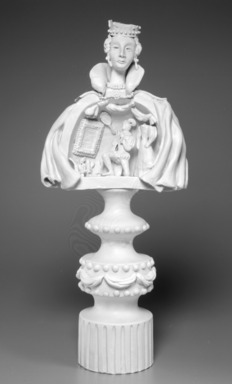 Richard-Ginori (Italian, founded Doccia, 1737). <em>Chessman</em>, ca. 1949. Plaster, 21 1/2 x 9 1/2 x 7 in. (54.6 cm). Brooklyn Museum, Gift of the Estate of Miriam Godofsky, 1999.106.1. Creative Commons-BY (Photo: Brooklyn Museum, 1999.106.1_bw.jpg)
