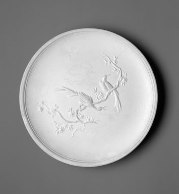Richard-Ginori (Italian, founded Doccia, 1737). <em>Plate</em>, ca. 1949. Earthenware, 1 x 8 3/4 x 8 3/4 in.  (2.5 x 22.2 x 22.2 cm). Brooklyn Museum, Gift of the Estate of Miriam Godofsky, 1999.106.5. Creative Commons-BY (Photo: Brooklyn Museum, 1999.106.5_bw.jpg)