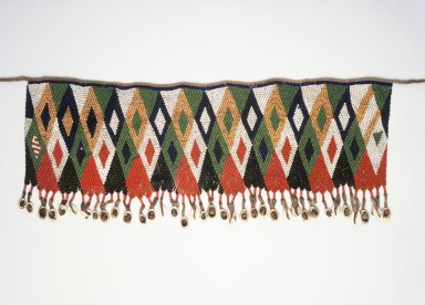 Kirdi. <em>Beaded Apron</em>, early 20th century. Colored glass beads, cotton, shells, 6 1/2 x 20 3/4 in.  (16.5 x 52.7 cm);. Brooklyn Museum, Gift of Mark S. Rapoport, M.D. and Jane C. Hughes, 1999.133.10. Creative Commons-BY (Photo: Brooklyn Museum, 1999.133.10.jpg)