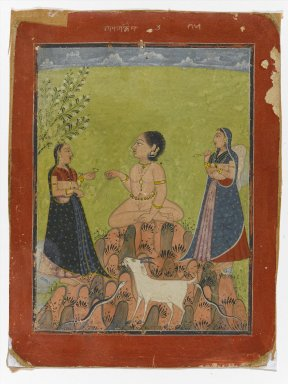 Indian. <em>Malkos Raga</em>, ca. 1735-1740. Opaque watercolor on paper, sheet: 8 x 6 in.  (20.3 x 15.2 cm);. Brooklyn Museum, Gift of Anthony A. Manheim, 1999.136.1 (Photo: Brooklyn Museum, 1999.136.1_PS1.jpg)