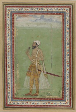 <em>A Mughal Dignitary</em>, ca. 1640. Watercolor and gold on paper, Sheet: 9 1/8 x 6 1/4 in. (23.2 x 15.9 cm). Brooklyn Museum, Gift of Anthony A. Manheim, 1999.136.5 (Photo: Brooklyn Museum, 1999.136.5_PS1.jpg)