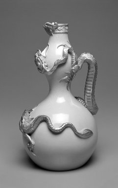 Worcester Royal Porcelain Co. (founded 1751). <em>Jug, shape 1035</em>, introduced 1884, made after 1884. Porcelain, 11 x 6 1/2 x 6 1/4 in. (27.9 x 16.5 x 15.9 cm). Brooklyn Museum, Gift of the Estate of Harold S. Keller, 1999.152.14. Creative Commons-BY (Photo: Brooklyn Museum, 1999.152.14_bw.jpg)