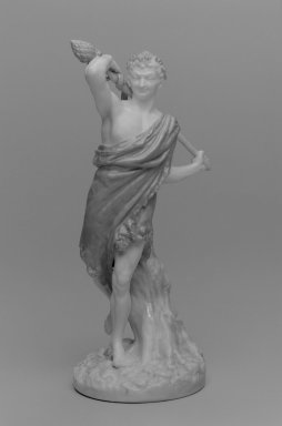 Worcester Royal Porcelain Co. (founded 1751). <em>Satyr, Shape 1440</em>, introduced 1890, ca. 1895. Porcelain, 10 x 4 1/2 x 4 1/4 in. (25.4 x 11.4 x 10.8 cm). Brooklyn Museum, Gift of the Estate of Harold S. Keller, 1999.152.165. Creative Commons-BY (Photo: Brooklyn Museum, 1999.152.165_bw.jpg)