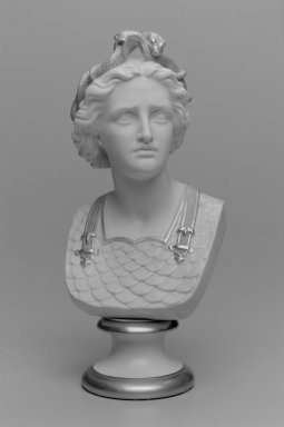 Worcester Royal Porcelain Co. (founded 1751). <em>Bust of Woman</em>, ca. 1890. Porcelain, 12 7/8 x 6 x 5 3/4 in. (32.7 x 15.3 x 14.6 cm). Brooklyn Museum, Gift of the Estate of Harold S. Keller, 1999.152.178. Creative Commons-BY (Photo: Brooklyn Museum, 1999.152.178_bw.jpg)
