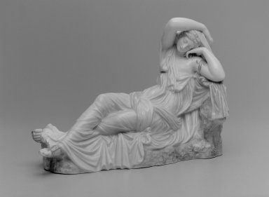 Worcester Royal Porcelain Co. (founded 1751). <em>Ariadne, Shape 72</em>, after 1876. Porcelain, 9 1/2 x 13 1/4 x 5 1/2 in. (24.1 x 33.7 x 14 cm). Brooklyn Museum, Gift of the Estate of Harold S. Keller, 1999.152.179. Creative Commons-BY (Photo: Brooklyn Museum, 1999.152.179_bw.jpg)
