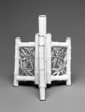 Worcester Royal Porcelain Co. (founded 1751). <em>Vase</em>, 1878. Porcelain, 6 x 4 7/8 x 4 5/8 in. (15.3 x 12.4 x 11.7 cm). Brooklyn Museum, Gift of the Estate of Harold S. Keller, 1999.152.231. Creative Commons-BY (Photo: Brooklyn Museum, 1999.152.231_bw.jpg)