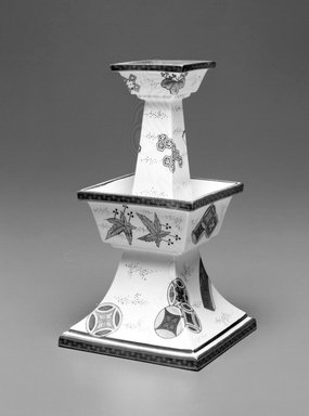 Worcester Royal Porcelain Co. (founded 1751). <em>Vase</em>, 1873. Porcelain, 7 1/8 x 4 x 4 in. (18.1 x 10.2 x 10.2 cm). Brooklyn Museum, Gift of the Estate of Harold S. Keller, 1999.152.238. Creative Commons-BY (Photo: Brooklyn Museum, 1999.152.238_bw.jpg)