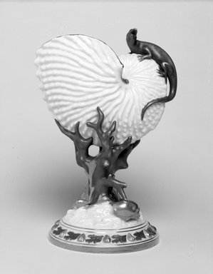 Worcester Royal Porcelain Co. (founded 1751). <em>Vase, shape 93</em>, introduced before 1872, made 1883. Porcelain, 8 5/8 x 6 1/2 x 5 in. (21.9 x 16.5 x 12.7 cm). Brooklyn Museum, Gift of the Estate of Harold S. Keller, 1999.152.248. Creative Commons-BY (Photo: Brooklyn Museum, 1999.152.248_bw.jpg)