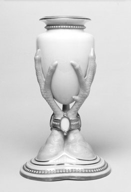 Worcester Royal Porcelain Co. (founded 1751). <em>Vase</em>, 1867. Porcelain, 7 1/8 x 4 1/4 x 4 in. (18.1 x 10.8 x 10.2 cm). Brooklyn Museum, Gift of the Estate of Harold S. Keller, 1999.152.264. Creative Commons-BY (Photo: Brooklyn Museum, 1999.152.264_bw.jpg)