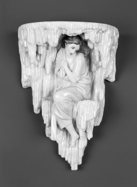 "Worcester Royal Porcelain Co. (founded 1751). <em>Winter, from Four Seasons Wall Brackets, shape 5/2,""</em> ca. 1880. Porcelain, 9 1/2 x 6 7/8 x 4 in. (24.1 x 17.5 x 10.2 cm). Brooklyn Museum, Gift of the Estate of Harold S. Keller, 1999.152.266. Creative Commons-BY (Photo: Brooklyn Museum, 1999.152.266_bw.jpg)"