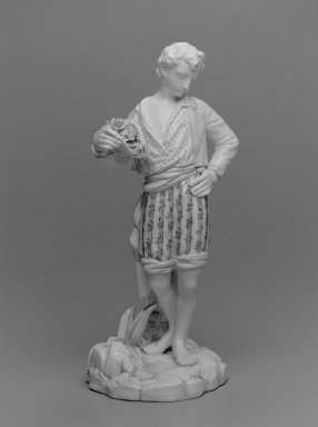 Worcester Royal Porcelain Co. (founded 1751). <em>Paul, shape 46</em>, ca. 1890. Porcelain, 12 3/4 x 5 3/8 x 6 1/2 in. (32.4 x 13.7 x 16.5 cm). Brooklyn Museum, Gift of the Estate of Harold S. Keller, 1999.152.271. Creative Commons-BY (Photo: Brooklyn Museum, 1999.152.271_bw.jpg)