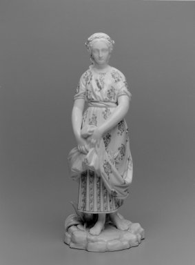 Worcester Royal Porcelain Co. (founded 1751). <em>Virginia, shape 46</em>, ca. 1890. Porcelain, 12 1/2 x 5 x 5 3/4 in. (31.8 x 12.7 x 14.6 cm). Brooklyn Museum, Gift of the Estate of Harold S. Keller, 1999.152.272. Creative Commons-BY (Photo: Brooklyn Museum, 1999.152.272_bw.jpg)