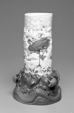 Worcester Royal Porcelain Co. (founded 1751). <em>Vase</em>, ca. 1875. Porcelain, 11 1/4 x 7 x 6 1/4 in. (28.6 x 17.8 x 15.9 cm). Brooklyn Museum, Gift of the Estate of Harold S. Keller, 1999.152.316. Creative Commons-BY (Photo: , 1999.152.316_bw.jpg)