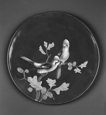 Worcester Royal Porcelain Co. (founded 1751). <em>Wall Plaque</em>, ca. 1870. Porcelain, 1 1/4 x 15 3/4 in. (3.2 x 40 cm). Brooklyn Museum, Gift of the Estate of Harold S. Keller, 1999.152.337. Creative Commons-BY (Photo: Brooklyn Museum, 1999.152.337_bw.jpg)