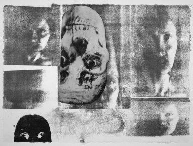 Kiki Smith (American, born Germany, 1954). <em>[Untitled]</em>, 1991. Lithograph, 22 1/2 x 30 1/2 in.  (57.2 x 77.5 cm). Brooklyn Museum, Emily Winthrop Miles Fund, 1999.17.5. © artist or artist's estate (Photo: Brooklyn Museum, 1999.17.5.jpg)
