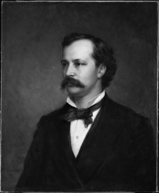 George Augustus Baker Jr. (American, 1821-1880). <em>John Claflin Southwick</em>, 1869 and 1875. Oil on canvas, 30 1/8 x 25 in. (76.5 x 63.5 cm). Brooklyn Museum, Gift of the American Art Council, 1999.54.2 (Photo: Brooklyn Museum, 1999.54.2_bw.jpg)