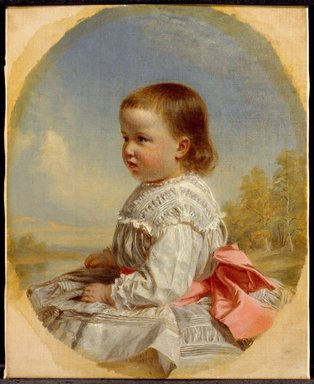 Thomas Waterman Wood (American, 1823-1903). <em>Susie Kent Southwick</em>, 1873. Oil on canvas, 12 x 9 7/8in. (30.5 x 25.1cm). Brooklyn Museum, Gift of the American Art Council, 1999.54.7 (Photo: Brooklyn Museum, 1999.54.7_SL3.jpg)
