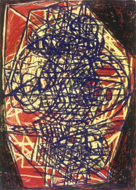 Terry Winters (American, born 1949). <em>Connected Slice</em>, late 20th century. Oil and acrylic on paper, 41 5/8 x 28 3/4in. (105.7 x 73cm). Brooklyn Museum, Gift of the American Academy of Arts and Letters, 1999.55. © artist or artist's estate (Photo: Brooklyn Museum, 1999.55_transp3097.jpg)