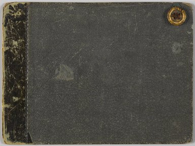 Francis William Edmonds (American, 1806-1863). <em>British Isles Sketchbook</em>, 1841. Graphite on cream, moderately thick, slightly textured wove paper, 4 3/4 x 6 5/16 x 1/4 in. (12.1 x 16 x 0.6 cm). Brooklyn Museum, Purchase gift of Mr. and Mrs. Leonard L. Milberg, 1999.6.2 (Photo: Brooklyn Museum, 1999.6.2_p00_front_cover_PS6.jpg)