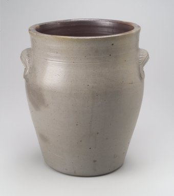 Wallabout Pottery (Brooklyn, New York). <em>Jar</em>, ca. 1840. Stoneware, 12 1/4 x 11 x 10 1/4 in. (31.1 x 27.9 x 26 cm). Brooklyn Museum, Bequest of Rogen S. Brown, by exchange, 1999.72. Creative Commons-BY (Photo: Brooklyn Museum, 1999.72.jpg)