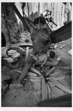 Valdir Cruz (Brazilian, born 1954). <em>Yanomami, Homoxi Series #XII</em>, 1996-1997. Toned gelatin silver photograph, 18 1/2 x 12 1/2 in.  (47.0 x 31.8 cm). Brooklyn Museum, Purchased with funds given by the Horace W. Goldsmith Foundation, Karen B. Cohen, Ardian Gill, and Dr. Joel E. Hershey, 1999.8.2. © artist or artist's estate (Photo: Brooklyn Museum, 1999.8.2_bw.jpg)