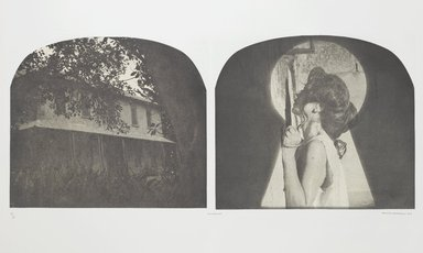 Tracey Moffatt (Australian, born 1960). <em>Laudanum</em>, 1998. Photogravure, sheet: 30 1/8 x 22 3/4 in. (76.5 x 57.8 cm). Brooklyn Museum, Alfred T. White Fund, 1999.80.8. © artist or artist's estate (Photo: Brooklyn Museum, 1999.80.8_PS1.jpg)