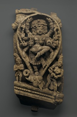 <em>Relief Depicting Shiva Dancing as the Slayer of Demons</em>, late 16th-early 17th century. Wood, 30 x 14 in.  (76.2 x 35.6 cm). Brooklyn Museum, Gift of Dr. Bertram H. Schaffner, 1999.99.2 (Photo: Brooklyn Museum, 1999.99.2_PS1.jpg)