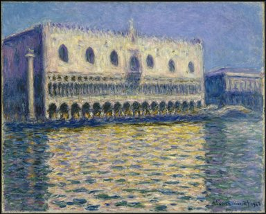 Claude Monet (French, 1840-1926). <em>The Doge's Palace (Le Palais ducal)</em>, 1908. Oil on canvas, 32 x 39 in. (81.3 x 99.1 cm). Brooklyn Museum, Gift of A. Augustus Healy, 20.634 (Photo: Brooklyn Museum, 20.634_SL1.jpg)