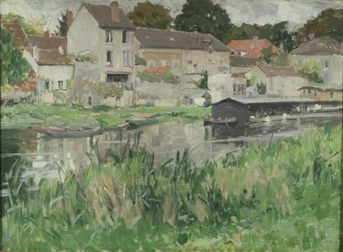 George Oberteuffer (American, 1878-1940). <em>In Stevenson's Moret</em>, ca. 1920. Oil on canvas, 28 13/16 x 39 7/16 in. (73.2 x 100.2 cm). Brooklyn Museum, John B. Woodward Memorial Fund, 20.636 (Photo: Brooklyn Museum, 20.636.jpg)