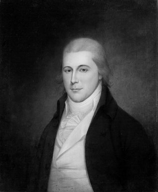James Peale (American, 1749-1831). <em>Richard Harwood</em>, ca. 1795-1805. Oil on canvas, 29 3/4 x 24 3/4 in. (75.5 x 62.8 cm). Brooklyn Museum, Museum Purchase Fund, 20.639 (Photo: Brooklyn Museum, 20.639_bw.jpg)
