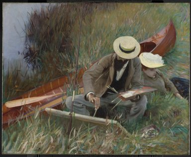 John Singer Sargent (American, born Italy, 1856-1925). <em>An Out-of-Doors Study</em>, 1889. Oil on canvas, frame: 41 1/2 x 48 5/8 x 6 in. (105.4 x 123.5 x 15.2 cm). Brooklyn Museum, Museum Collection Fund, 20.640 (Photo: Brooklyn Museum, 20.640_PS6.jpg)