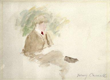 Mary Cassatt (American, 1844-1926). <em>Study of a Boy</em>. Watercolor, Sheet: 9 7/16 x 12 5/8 in. (24 x 32 cm). Brooklyn Museum, Gift of a friend, 20.653 (Photo: Brooklyn Museum, 20.653_SL1.jpg)
