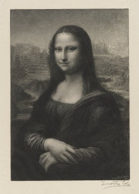 Timothy Cole (American, 1852-1931). <em>Mona Lisa</em>, 1914. Wood engraving, 9 1/8 x 6 5/16 in. (23.2 x 16.1 cm). Brooklyn Museum, Gift of Frank L. Babbott, 20.778 (Photo: Brooklyn Museum, 20.778_PS4.jpg)