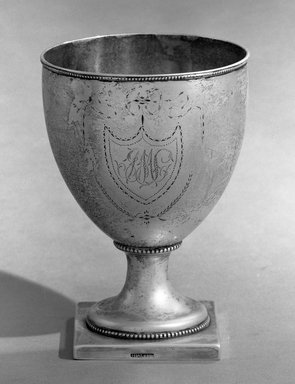 American. <em>Sugar Bowl</em>, ca. 1785. Silver, 6 1/4 x 3 in. (15.8 x 7.6 cm). Brooklyn Museum, Bequest of Samuel E. Haslett, 20.795. Creative Commons-BY (Photo: Brooklyn Museum, 20.795_acetate_bw.jpg)