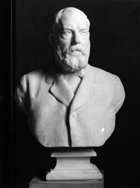 Frederick William MacMonnies (American, 1863-1937). <em>Colonel Robert B. Woodward</em>, 1919. Marble, 40 1/8 x 24 7/16 x 16 9/16 in. (101.9 x 62.1 x 42.1 cm). Brooklyn Museum, Purchased by Special Subscription, 20.835. Creative Commons-BY (Photo: Brooklyn Museum, 20.835_print_bw.jpg)