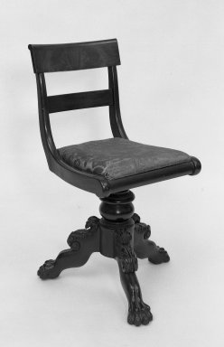 American. <em>Piano Stool</em>, 19th century., 32 x 15 1/4 x 15 1/2 in. (81.3 x 38.7 x 39.4 cm). Brooklyn Museum, Bequest of Samuel E. Haslett, 20.927. Creative Commons-BY (Photo: Brooklyn Museum, 20.927_acetate_bw.jpg)