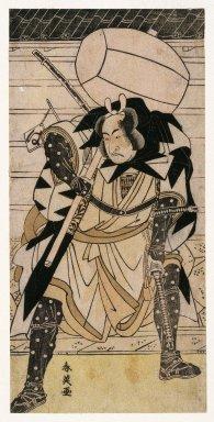 Katsukawa Shunei (Japanese, 1762-1819). <em>The Actor Ichikawa Monnosuke II as Otaka Gengo, from Chushingura</em>, 1783. Color woodblock print on paper, 11 13/16 x 5 3/4 in. (30.0 x 14.5 cm). Brooklyn Museum, Museum Collection Fund, 20.935 (Photo: Brooklyn Museum, 20.935_IMLS_SL2.jpg)