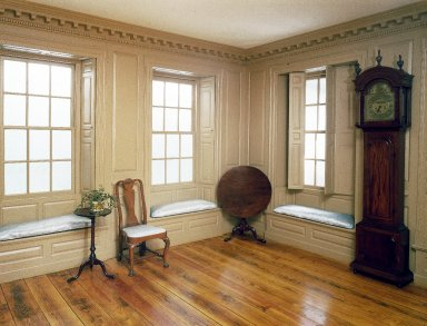 <em>The North East Parlor of Joseph Russell House</em>, 18th century. Brooklyn Museum, Gift of the Rembrandt Club, 20.956. Creative Commons-BY (Photo: Brooklyn Museum, 20.956_yr1982_installation_parlor_view1_IMLS_SL2.jpg)