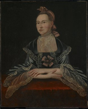 Unknown. <em>Portrait of a Woman</em>, ca. 1765. Oil on canvas, 35 1/16 x 28 3/4 in. (89.1 x 73 cm). Brooklyn Museum, Bequest of Samuel E. Haslett, 20.961 (Photo: Brooklyn Museum, 20.961_PS2.jpg)