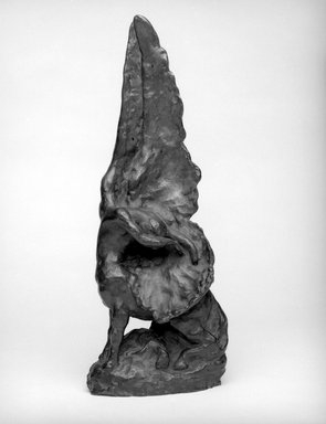 Helen Farnsworth Mears (American, 1871-1916). <em>The Awakening</em>, Designed 1914; Cast August 3, 1916. Bronze, 17 1/4 x 6 7/8 x 6 in. (43.8 x 17.5 x 15.2 cm). Brooklyn Museum, Gift of Mary Mears, 20.990.1. Creative Commons-BY (Photo: Brooklyn Museum, 20.990.1_bw.jpg)
