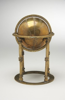 <em>Celestial Sphere</em>, 18th century. Copper alloy, height: 7 in. (17.8 cm). Brooklyn Museum, Museum Collection Fund, 20.993. Creative Commons-BY (Photo: Brooklyn Museum, 20.993_front_PS11.jpg)