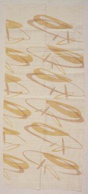 Ruth Adler Schnee (American, born Germany 1923). <em>Textile Sample, Swizzles</em>, ca. 1948. Linen, 22 1/2 x 52 3/4 in.  (57.2 x 134.0 cm). Brooklyn Museum, H. Randolph Lever Fund, 2000.100.1 (Photo: Brooklyn Museum, 2000.100.1_transp4444.jpg)